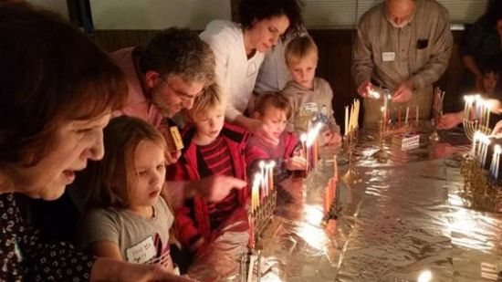 Hanukkah lighting