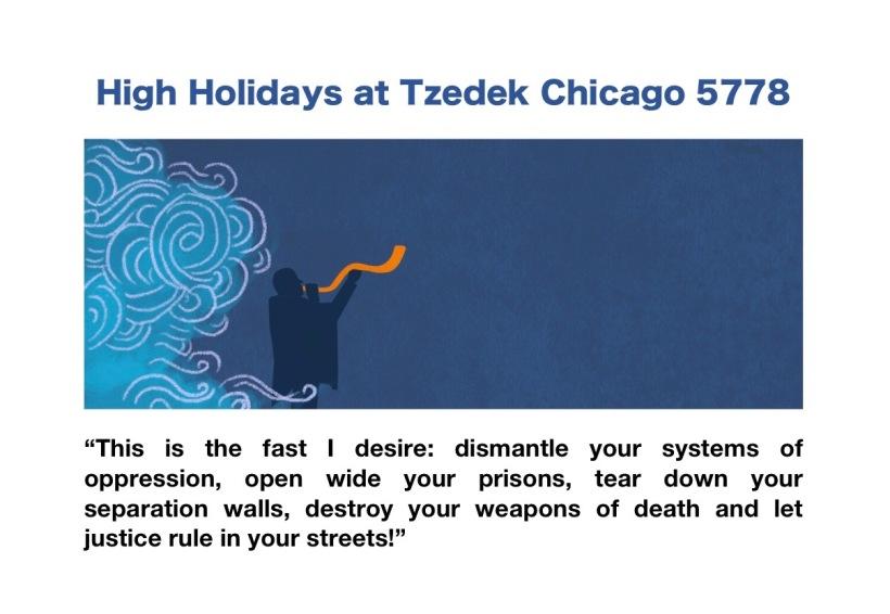 High Holidays at Tzedek Chicago 5778 2